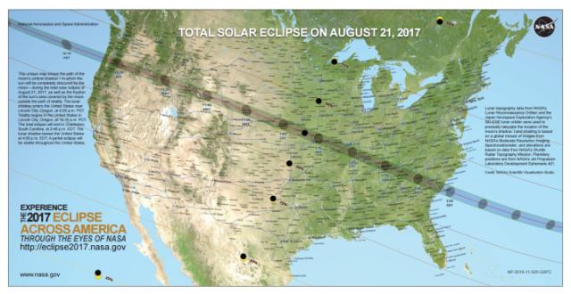 a solar eclipe map